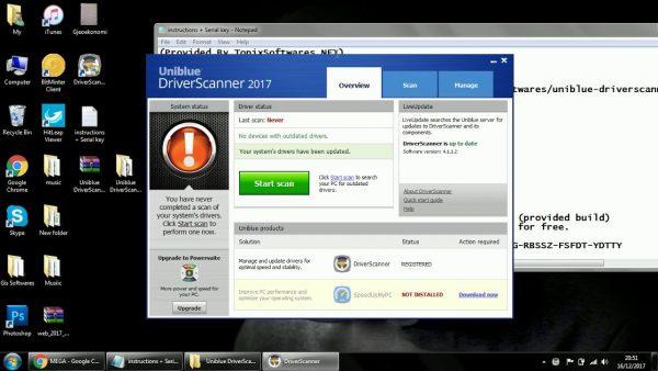 Uniblue Driver Scanner Crack Registration Key