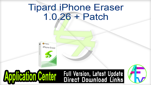 Tipard iPhone Eraser Crack